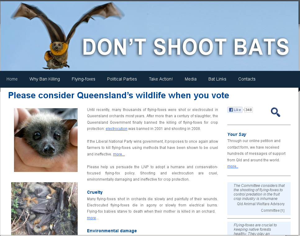 Don't Shoot Bats - Banner