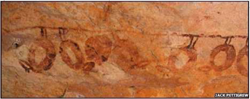 bats in cave art from the Icae age 20-25,000 years ago in the Kimberley region